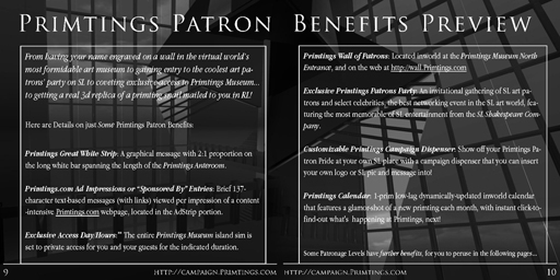 Primtings Patron Benefits Preview